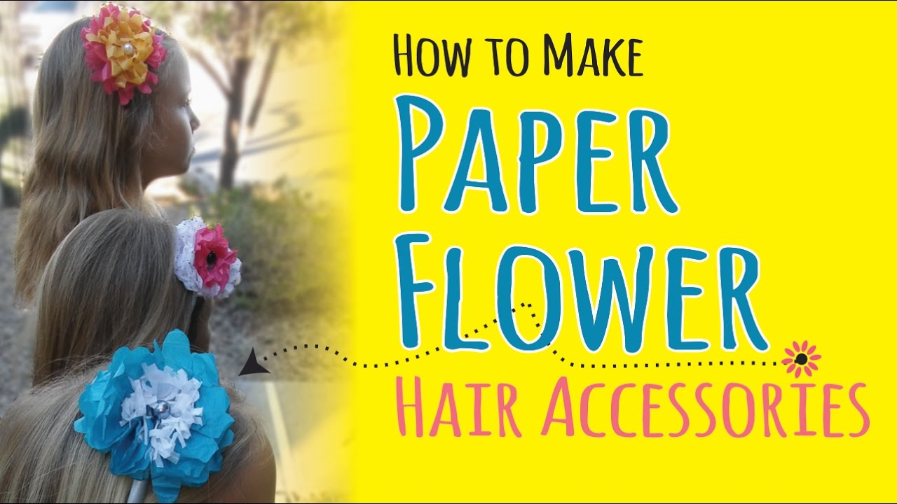 How To Make Tissue Paper Flower Headbands Diy Hair Accessories