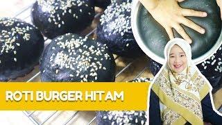 Cara Membuat Roti Burger Hitam  (How to Make Black Burgers)