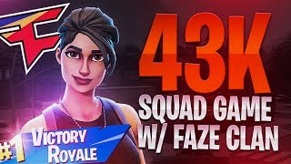 43 KILL SQUAD GAME w/ FaZe Banks, FaZe Yelo & FaZe Replays