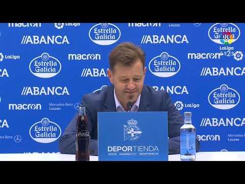 Rueda de prensa de Manuel tras el RC Deportivo vs Extremadura UD (1-2)