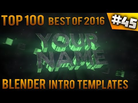 TOP 10 BEST Blender Intro Templates Free Download