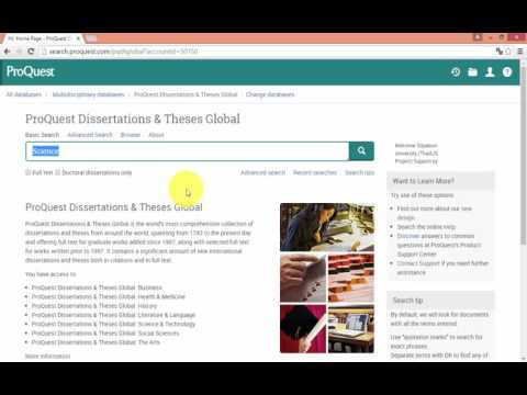ฐานข้อมูล ProQuest Dissertation & Theses Global