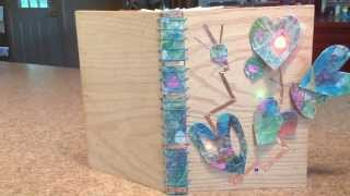 Tall Wooden Book With Leds