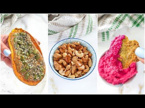 Healthy Snack Ideas To Try! | vegan, paleo recipes