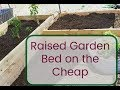 How to Build a Raised Garden Bed from Cheap Lumber