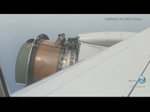 United Airlines passengers brace for impact after engine cover rips off during flight