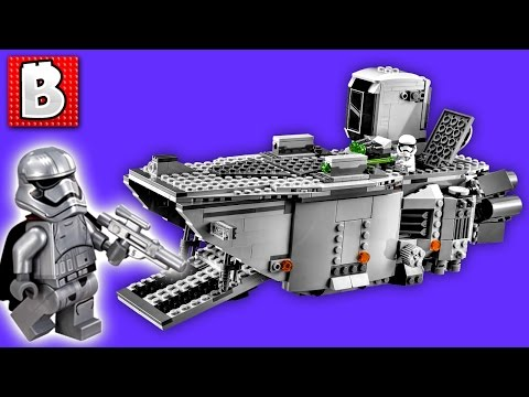 Lego Star Wars First Order Transporter 75103 - Captain Phasma! | Unboxing Building Review