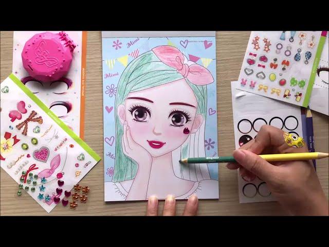 [Chim Xinh Channel] TRANG ĐIỂM BÚP BÊ HÀN QUỐC VÀ HÌNH DÁN, TÔ SON, ĐÁNH PHẤN, KẺ MẮT - Make up doll korea (Chim Xinh)