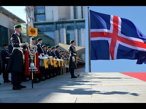 Ehrenkompanie - Islands Premierministerin - Militärische Ehren