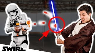 Can you ACTUALLY deflect blaster fire WITH A LIGHTSABER??