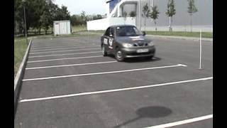 Автошкола Днепропетровск. Видео урок  Упражнение  змейка