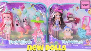 Enchantimals Doll Playset Packs Bren Bear & Fanci Flamingo Review | ShannonsDollChannel