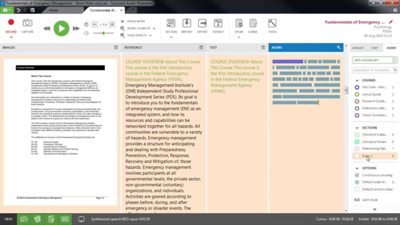 How To Work With Written Research Material As Speech Using Sonocent Audio  Notetaker
