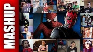 Marvel SPIDER-MAN vs Star Wars DARTH MAUL Super Power Beat Down Reactions Mashup