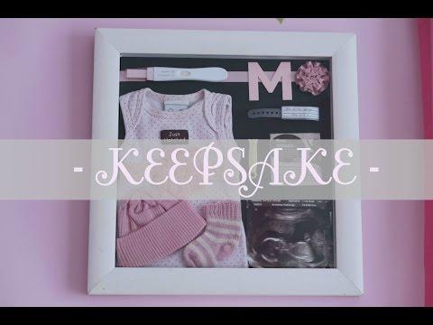 How to : Baby keepsake shadow box
