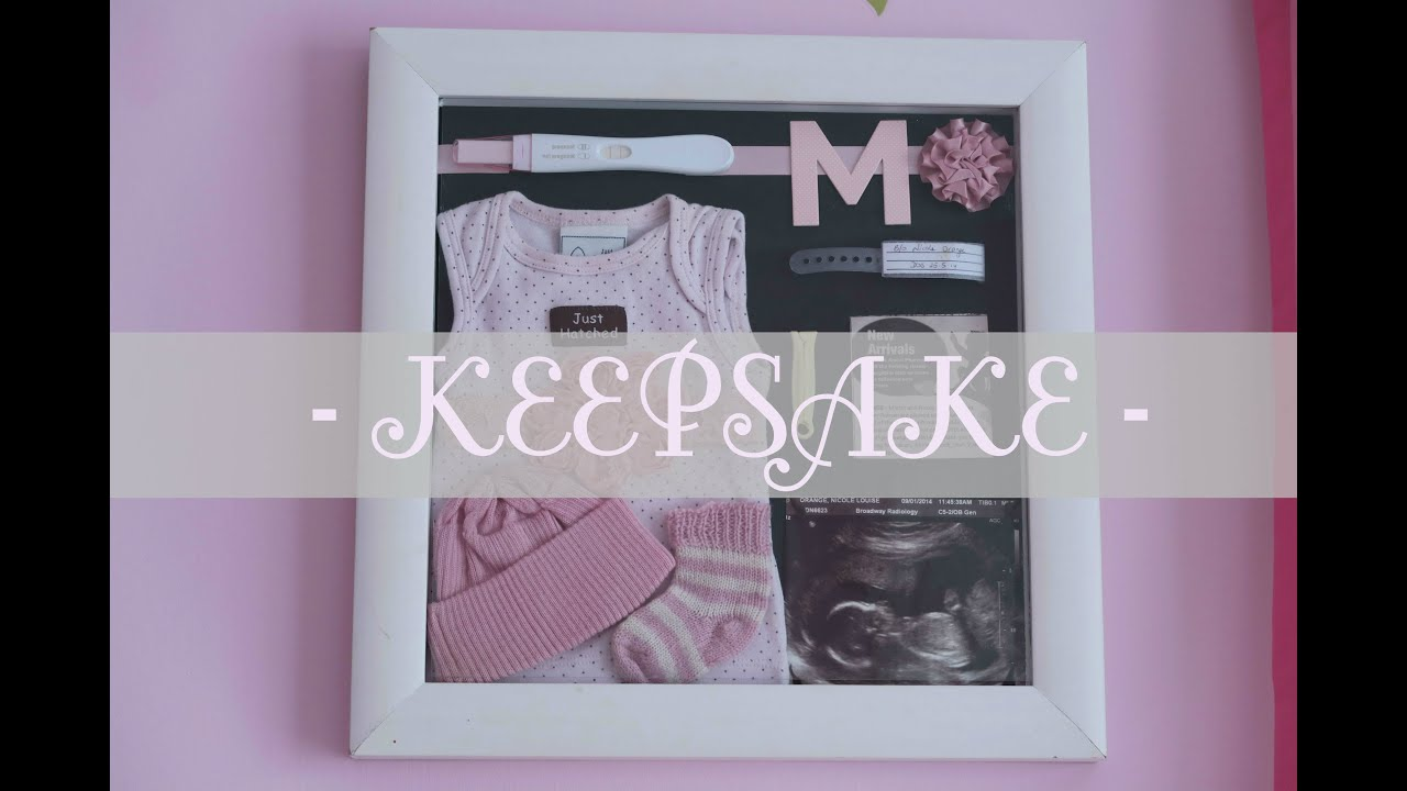 How to  Baby keepsake shadow box & How to : Baby keepsake shadow box - YouTube Aboutintivar.Com