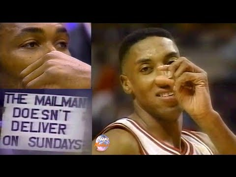 Scottie Pippen on Karl Malone: The Mailman Doesn't Deliver on Sundays!