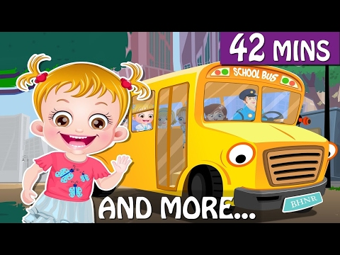 Wheels on the Bus Go Round and Round Nursery Rhymes For Kids! HD