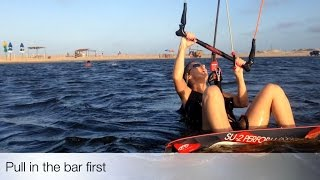 Kitesurfing tutorial: How to waterstart? BECOME A HERO Episode 1