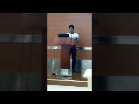 Reciting Poem At China Pharmaceutical University