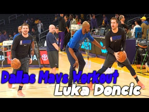 Luka Doncic Workout vs Lakers Crazy Half Court Shots and 1 on 1