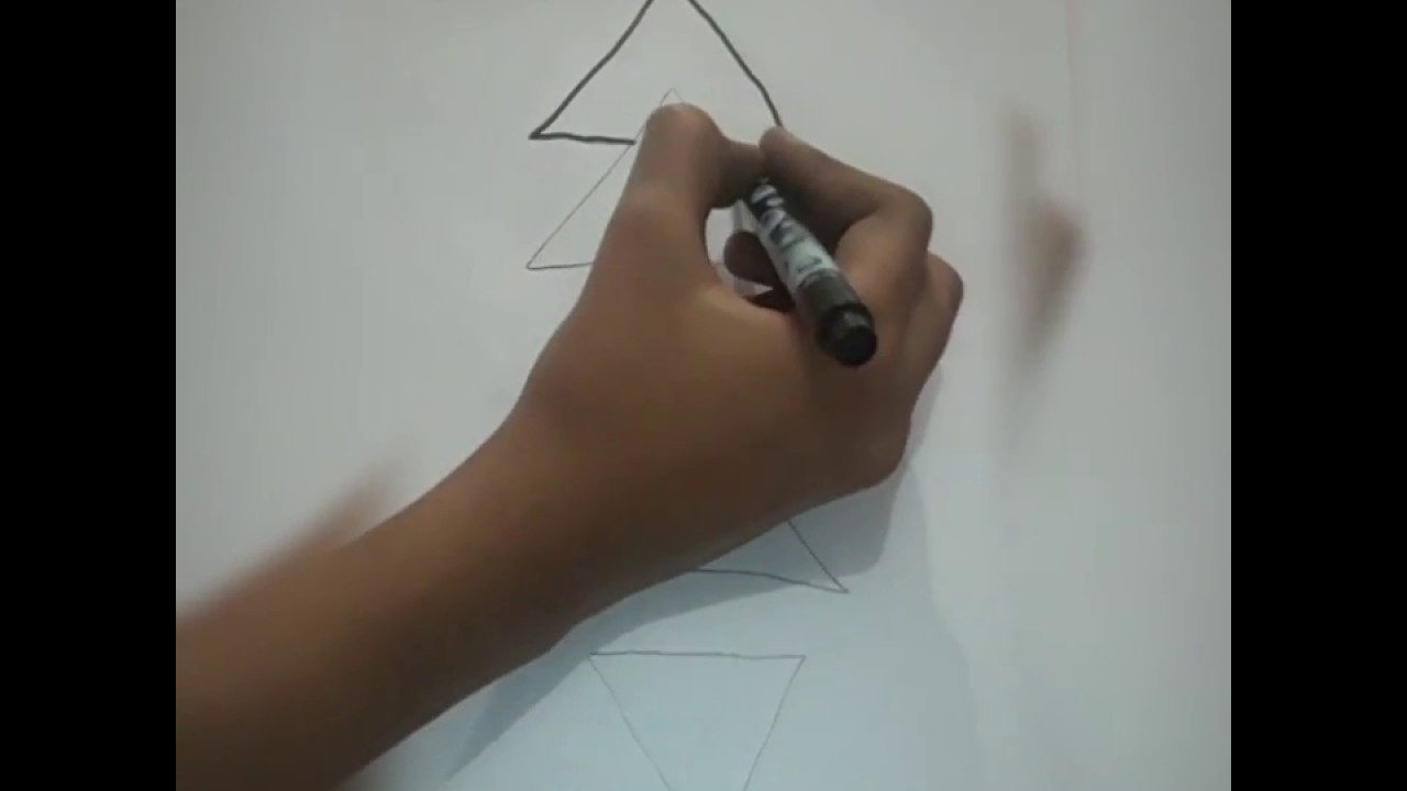 how to draw a christmas tree easily