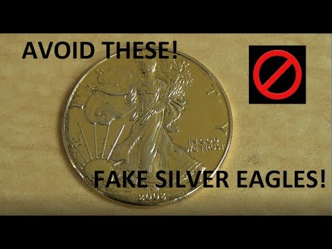 Avoid Fake Silver Eagles! We Show You How!  Counterfeit Silver Eagle!