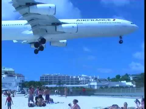 Big Jets Fly Into St. Maarten