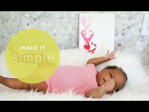 Make It Simple Easy Footprint Art For Babies