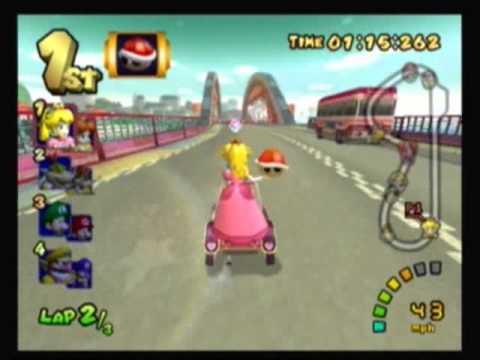 Mario Kart Double Dash!! - Flower Cup: Mushroom Bridge (50cc) (1/4)