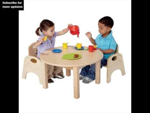 Toddler Table And Chair Set | Kidu0027s Table u0026 Chairs  sc 1 st  YouTube & Toddler Table And Chair Set | Kidu0027s Table u0026 Chairs - YouTube