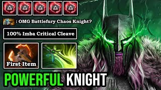 cHAOS KNIGHT BATTLEFURY IS TOO POWERFUL 100% Imba Hit Like a Truck Even PL Can't Escape 8K MMR DotA