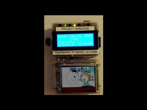 Raspberry Pi Media Center Handheld Portable and Battery Powered