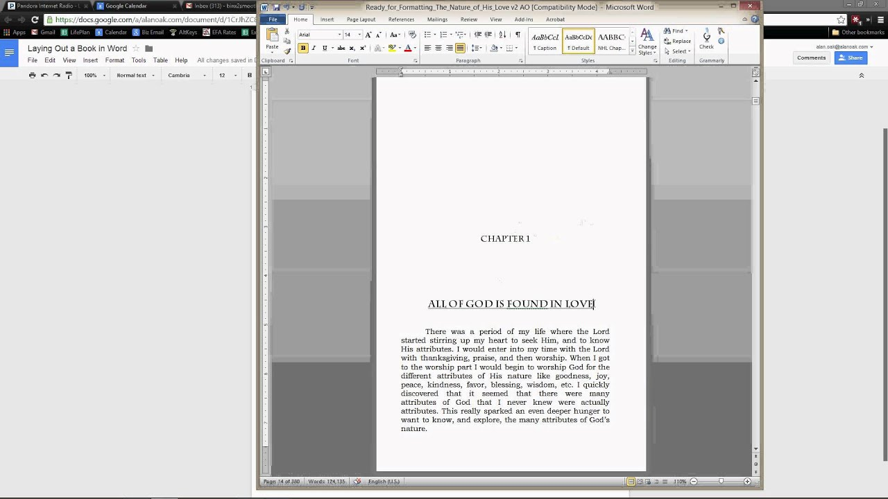 How to format a book for create space in word video 1 for How to create a book template in word