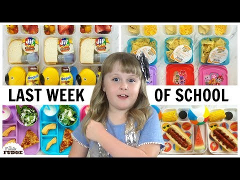 FUN LUNCH IDEAS For The LAST WEEK OF SCHOOL   JK, K, 1st Grade, 2nd Grade   Bunches Of Lunches