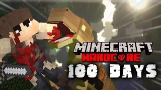 I Survived 100 DAYS In Jurassic World Minecraft Hardcore