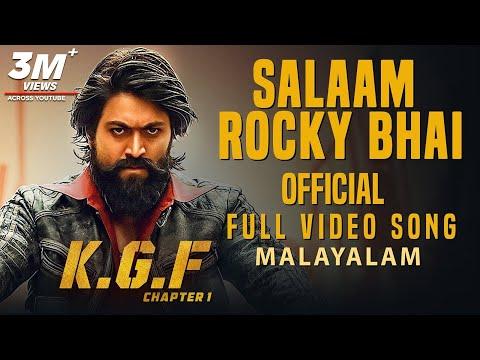 Salaam Rocky Bhai Full Video Song | KGF Malayalam Movie | Yash | Prashanth Neel | Hombale Films