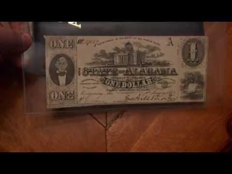 Set of Alabama Confederate Paper Money