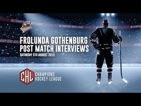 Sheffield Steelers in the CHL - Frolunda Gothenburg - Post Match Interviews - 05/09/15