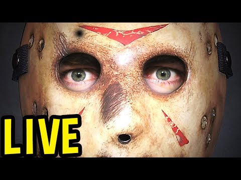 Friday The 13th Game LIVE GAMEPLAY ALL DAY - Jason Gameplay / Counselor Gameplay Pre - 1080p60