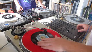 Skratch Bastid & The Gaff - 4 x 45s - Freda Payne / JVC FORCE routine - Soul Sisters, Stand Up!