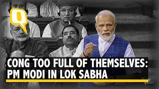 'Cong Too Full of Themselves': PM Modi At His First LS Address of Second Term   The Quint