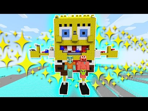 Minecraft: SpongeBob Race Car Mod! Racing Mini-Game Challenge! (With Squidward and Patrick Star!)