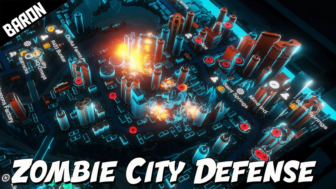 The APOCALYPSE of ZOMBIES - Zombie City Defense 2 Part 1 - YouTube