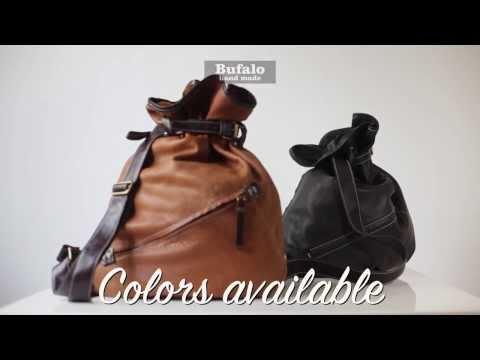 Bufalo BP-03 - Рюкзак - мешок из натуральной кожи теленка