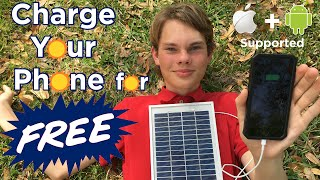 Ben Builds: Charge your Phone for FREE | DIY Solar Panel Phone Charger(Don't forget to SUBSCRIBE: http://goo.gl/WFgbYb In this video I will guide you through the process of creating your own solar panel phone charger that is ..., 2016-03-26T00:00:00.000Z)