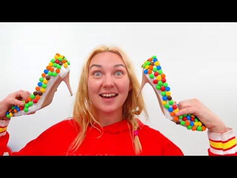 Алиса и история для детей про сладкие туфли из конфет