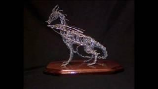 European - Style Dragon Wire Sculpture