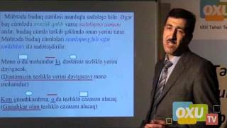 9 - Cu Sinif Azərbaycan Dili - Mübtəda Budaq Cümləli Tabeli Murekkeb Cumle