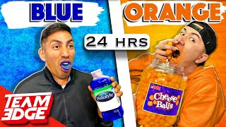Eating 1 Color Food for 24 hrs | Who will give up first?